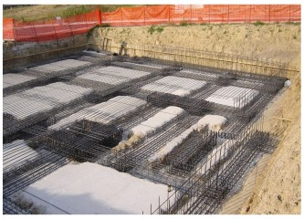 Cordoli di collegamento in c.c.a. della fondazione profonda su pali trivellati