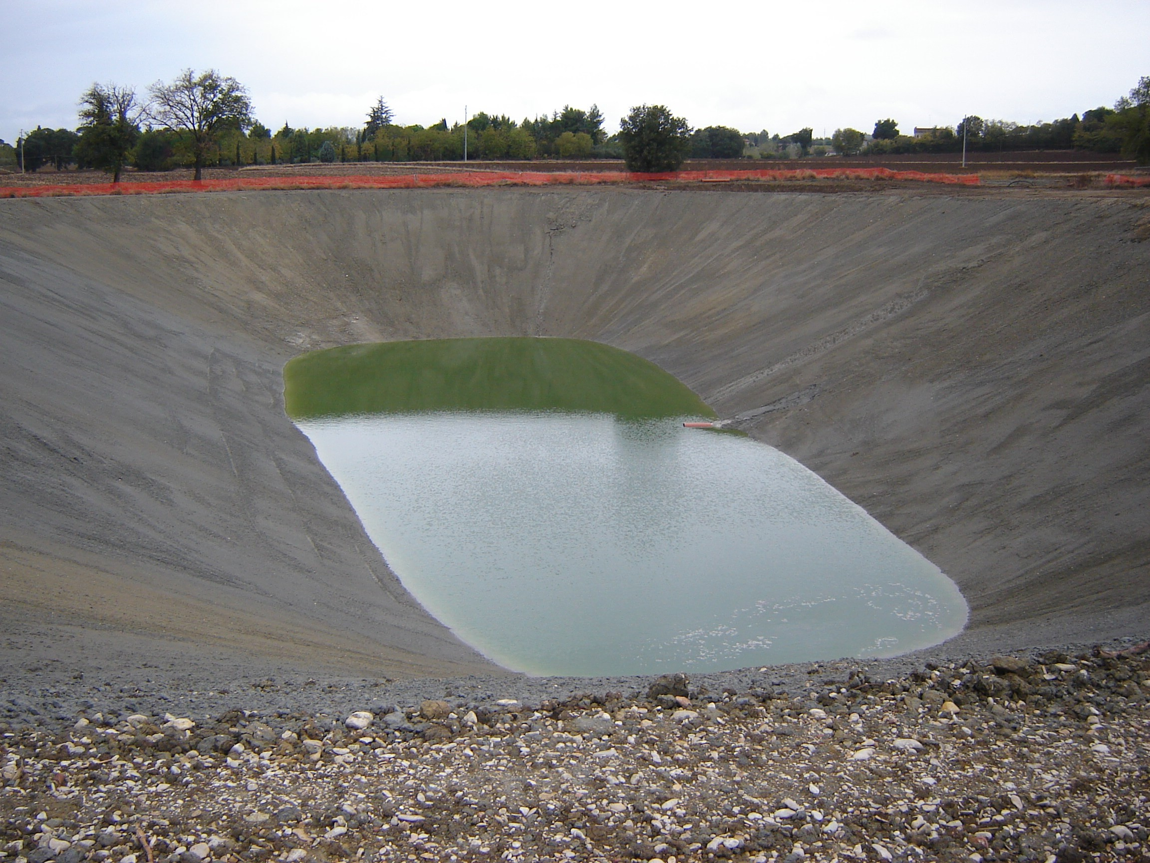 Sistemazione ed ampliamento di laghetto esistente ad uso for Sistema di filtraggio per laghetto