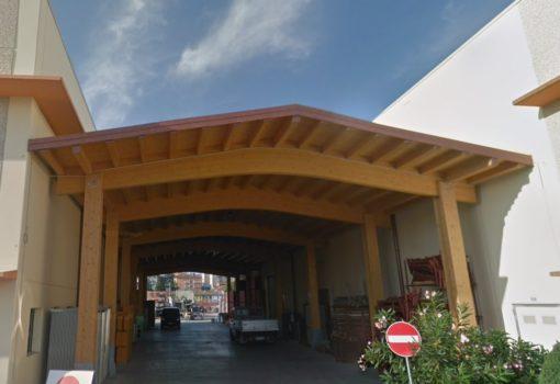 Prospetto Sud tettoia